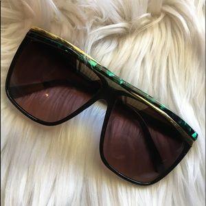 Accessories - Vintage 80's Sunglasses Electro Futuristic Style